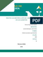 Práctica 6_Identificacion de Carbohidratos en Los Alimentos