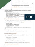 2. Place Et Ordre Des Pronoms Conjoints