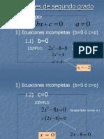 ecuación segundo grado