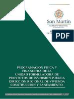 Programacion Fisica y financiera de Unidad Formuladora de la DRVCS.pdf