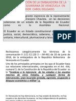 La Comunicación de La Embajadora de La República