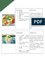 Dietetica Tablas Postres