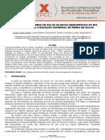 Quantificação da perda de solos na bacia do Pirapó