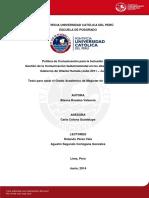 Tesis de Pobreza e Inclusion Social en El Peru Universidad La Catolica
