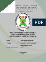 Informe de conferencia magistral