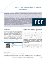Ultrasonic Hydrolipoclasy Structural Changes