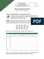 Calculo de Indicadores de Variabilidad en Excel