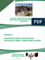 Recepcion Liquidacion de Ejecucion y Consultoria de Obras