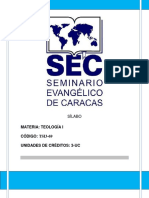 Teología I Sílabo