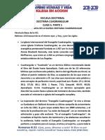 Clase 5. Reseña Basica de La Iglesia Cristiana Cuadrangular Parte 1 y 2
