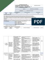 Planificación Curricular Anual Investigación 2019