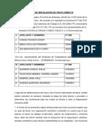 Acta de Instalacion de Trato Directo Cerro Verde