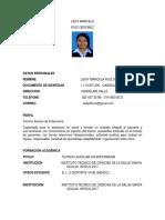 Hoja de Vida Leidy Ruiz Actualizada.1
