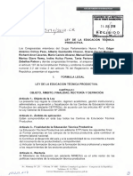 Proyecto Ley de Creacion de La Educacion Tecnica
