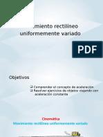 S6-FISICA-Movimiento Rectilíneo Uniformemente Variado
