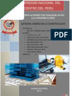 Diseño en La Contruccion Innovaciones en La Construccion