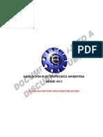 Reglamentación de Líneas Aéreas Exteriores de Baja Tensión AEA 95201