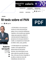 10 Tesis Sobre El PAN