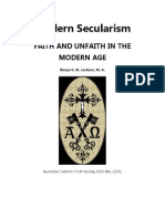 Modern Secularism , Faith and Unfaith in the Modern Age