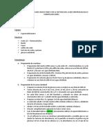 Determinacion de Azucares Reductores Por El Metodo Del Acido Dinitrosalicilico Modificado