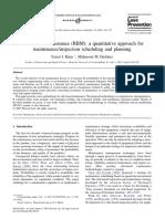 Risk-based Maintenance RBM a Quantitativ