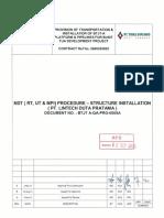 Btjt-A-qa-pro-0005a Ndt (Rt, Ut & Mpi) Procedure - Structur