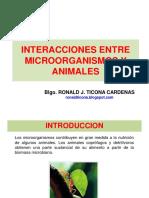 Interacciones de Microorganismos Con Animales
