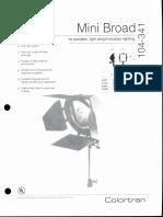 Colortran Mini Broad Spec Sheet 1995