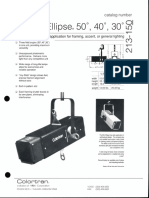 Colortran Mini Ellipse Spec Sheet 1995