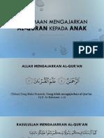 Keutamaan Mengajarkan Al Quran Kepada ANak