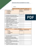 Ficha de Observacion de Seguimiento de Casos Psicologia