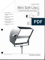 Colortran Mini Soft Lite Spec Sheet 1994