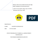 Research Proposal for Analyzing Snack of the Emlementry School of Gunung Batu
