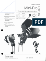 Colortran Mini-Pro Spec Sheet 1995