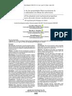 Evaluación de Las Propiedades Físico-químicas de Paneles Reforzados Con Fibras de Caña Brava