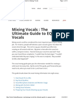 Mixing Vocals the Ultimate Guide