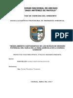 """""""MODELAMIENTO CARTOGRÁFICO DE LOS NIVELES DE EROSIÓN POTENCIAL DEL SUELO EN LA ZONA AGRÍCOLA DE LA CUENCA CHANCOS"""""""