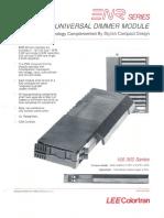 Lee Colortran ENR Series Universal Dimmer Module Spec Sheet 1989