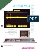 Lee Colortran Prestige 1000 Plus Control Console Brochure 1990