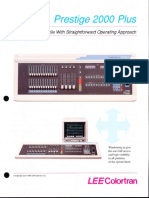 Lee Colortran Prestige 2000 Plus Control Console Brochure 1990
