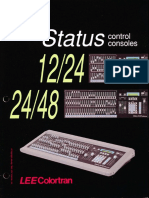 Lee Colortran Status 12-24 & 24-48 Control Console Brochure 1990