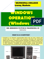 Windows Operation