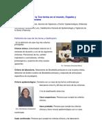 Epidemiología de La Tos Ferina en El Mundo, España y Comunidad Valenciana