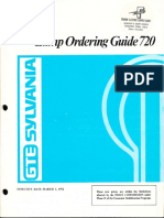 Sylvania 1972 Lamp Ordering Guide