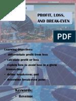 CH3 L3 Profit Loss Break Even