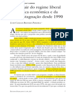 1_Como Sair Do Regime Liberal de Política Econômica e Da Quase-estagnação Desde 1990