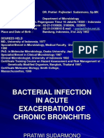 Bacterial Infection in Acute Exacerbation of Chronic Bronchi