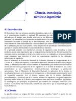 Introducción a La Ingeniería Una Perspectiva Desde... ---- (Capítulo Cuatro Ciencia, Tecnología, Técnica e Ingeniería)