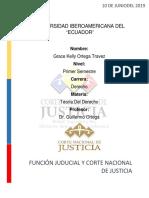 Ensayo de La Corte Nacional de Justicia  del Ecuador