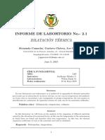 Lab 2.1 - Dilatación Térmica